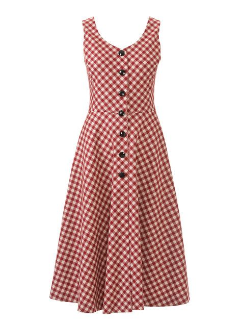 Button Down Retro Dress 09/2014 #123 – Sewing Patterns | BurdaStyle.com