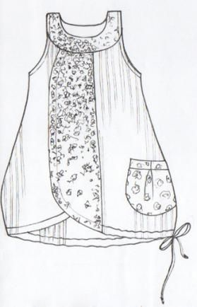 mixed fabrics, pocket, tunic length [Babielle Cotton Jumper : Blue Fish Clothing]