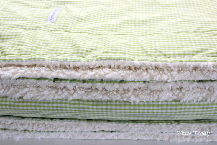 Tagesdecken - Traumhafte Kuscheldecke XXL♥Vichy Karo grün/weiss♥ - ein Designerstück von WhiteTeddy bei DaWanda