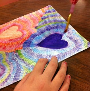 art projects valentines and watercolor pencils on pinterest