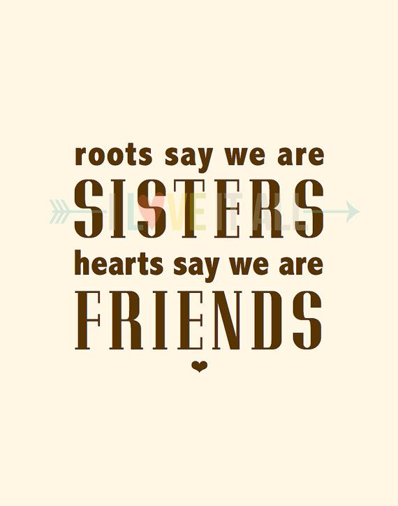 Sisters and Friends Art Print . Roots and Hearts . door ILoveItAll