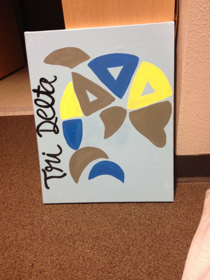Tri Delta Crafts #tridelta #omegadelta #canvas