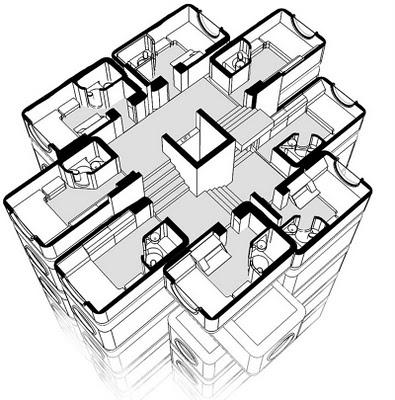 Mi Moleskine Arquitectónico: KUROKAWA: NAKAGIN CAPSULE TOWER