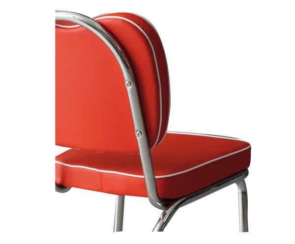 Set di 4 sedie in metallo Happydays rosso