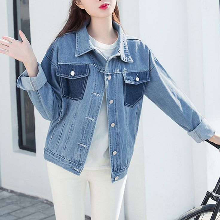 Find More Basic Jackets Information about 2017 jean jacket for women fashion pocket design long sleeve coat female new arrival slim solid denim jackets outerwear,High Quality jeans jacket for women,China jackets for women Suppliers, Cheap denim jacket from Hi Costume Store on Aliexpress.com