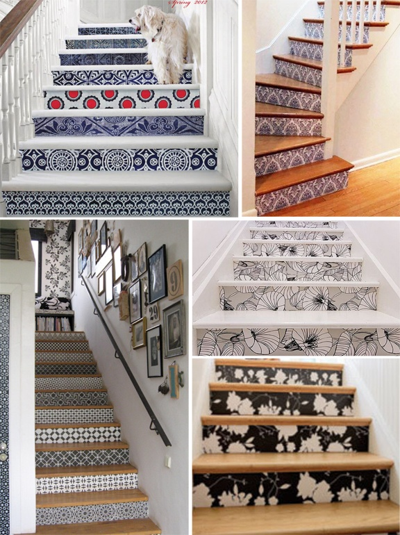 This Is Example Home Decorating Ideas Staircase With Wallpaper