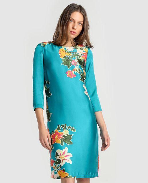 Vestido tipo túnica de mujer Antea con estampado floral