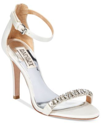 Badgley Mischka Elope Two-Piece Evening Sandals | macys.com