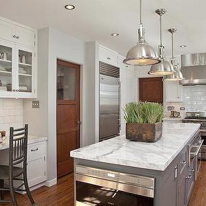 Kitchen Desk, Transitional, kitchen, Dunn Edwards Silver Spoon, Cynthia Marks Interiors