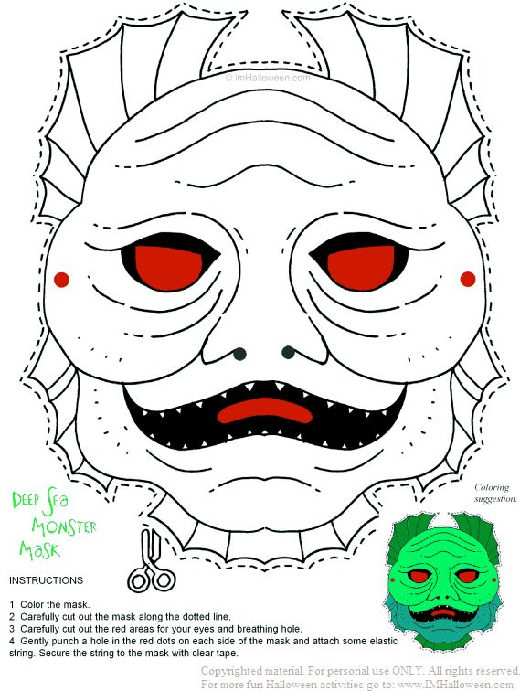 funny masks coloring pages - photo#34
