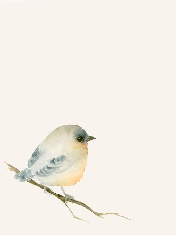 Watercolor Artwork - Tiny Lost Bird