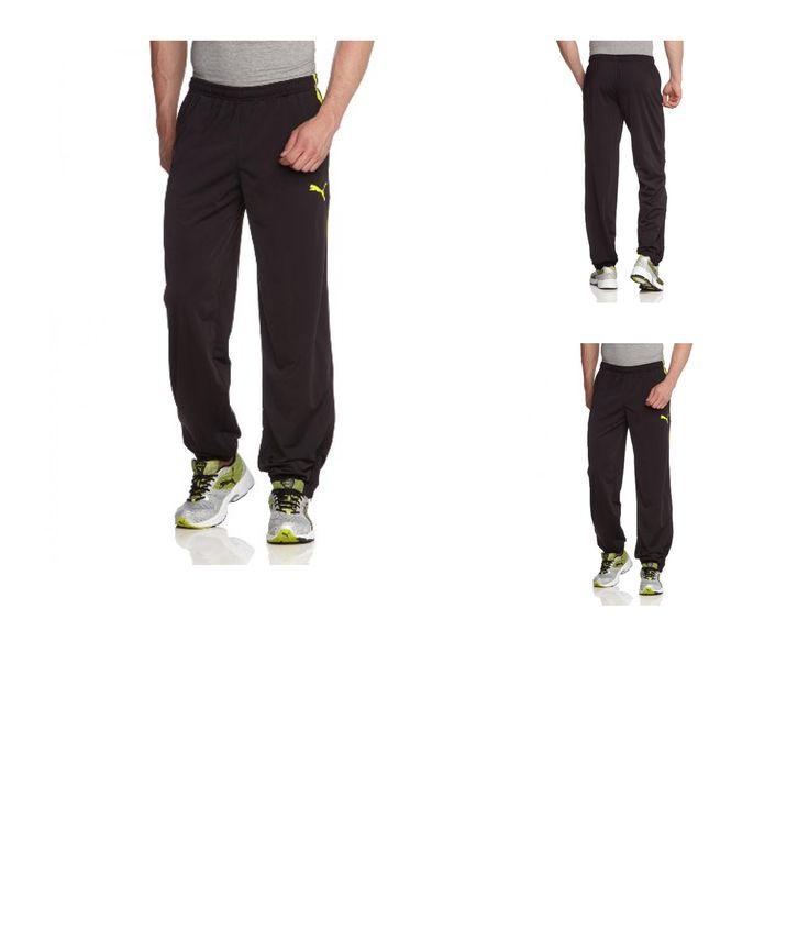 4053058574814   #PUMA #Herren #Hose #Spirit #Poly #Pants #Zipped #Leg #Opening, #Black/Blazing #Yellow, #S, #654041 #66