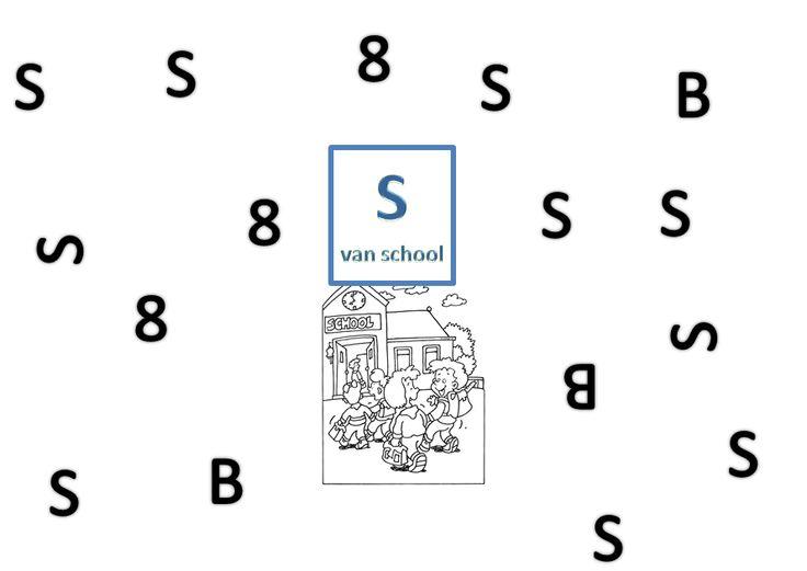werkblaadje: letter zoeken: de S van School