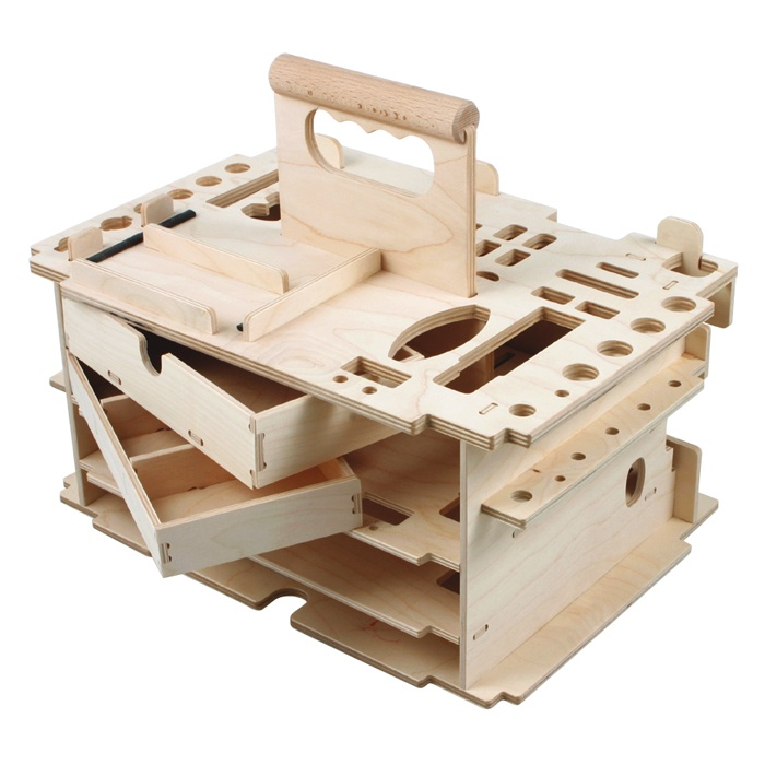 The same toolbox, without tools Japan tool rack