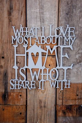 Welded Wall Quotes - What I Love Most about my Home..