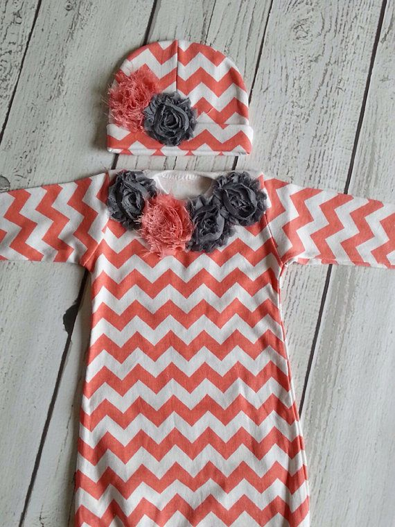 Newborn Gown Going Home Outfit Baby Gown And Hat Girl