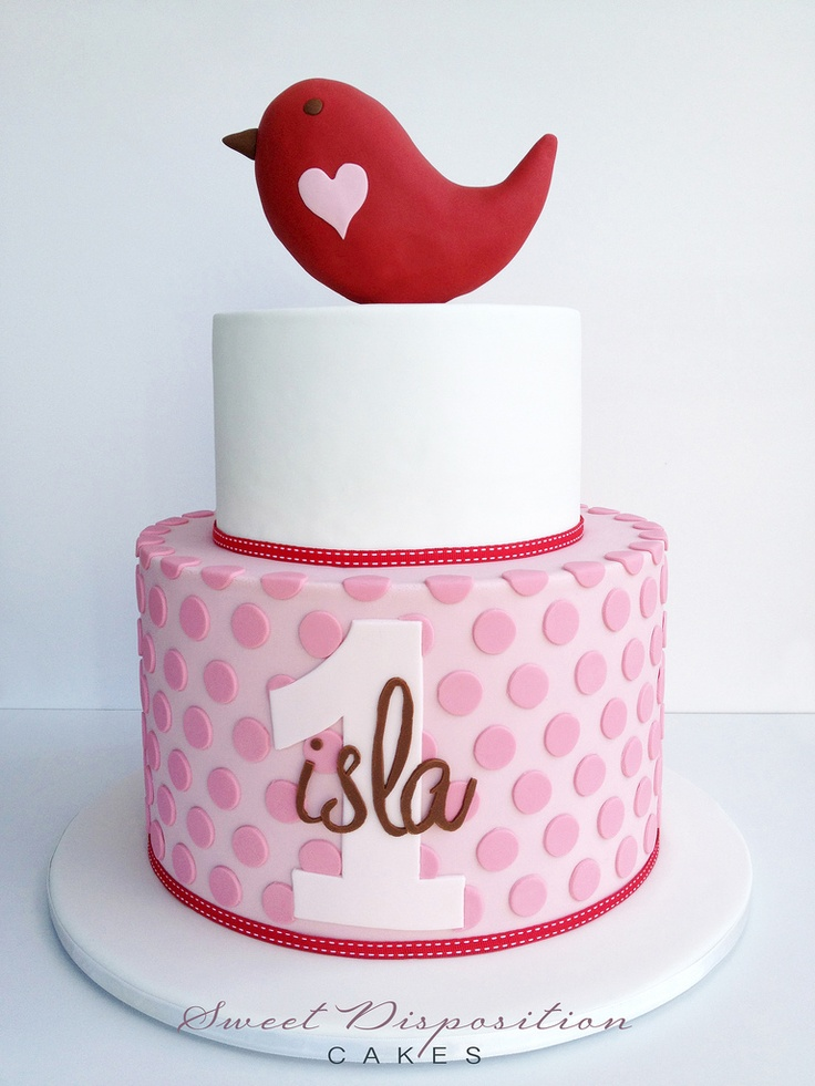 One Little Lala Bird Cake by Sweet Disposition Cakes, via Flickr