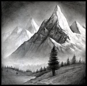 How to Draw a Realistic Landscape, Draw Realistic Mountains, Step by Step, Landscapes, Landmarks & Places, FREE Online Drawing Tutorial, Added by finalprodigy, December 13, 2011, 11:24:14 pm