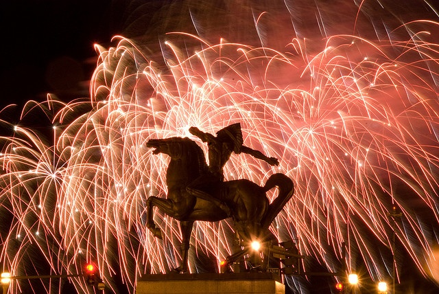 Spearman with Chicago fireworks, via Flickr (Chicago Pin of the Day, 7/4/2014).