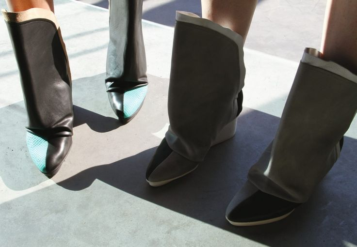 #TriptychNY #Black #White #FallShoes #Boots #Footwear #KickAssShoes