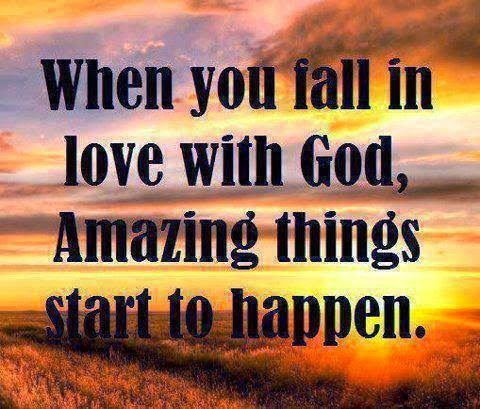 ❥ When you fall in love with God   Quotes that I love   Pinterest   God, Faith and Christ