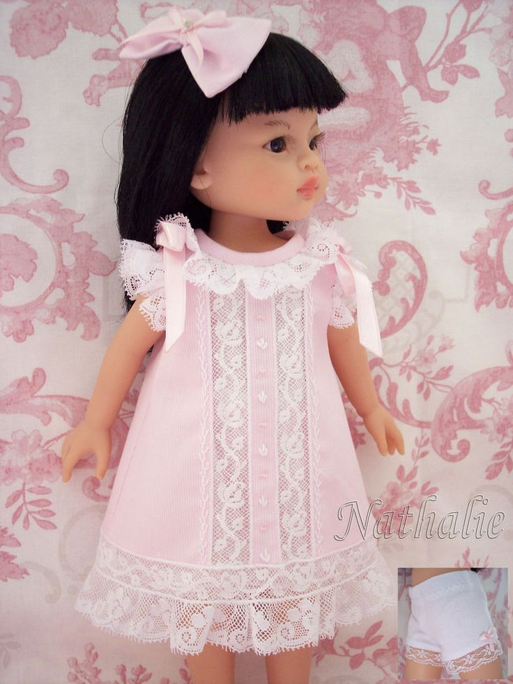 Robe rose, petite culotte et noeud pour poupée Paola Reina, Little Darling...