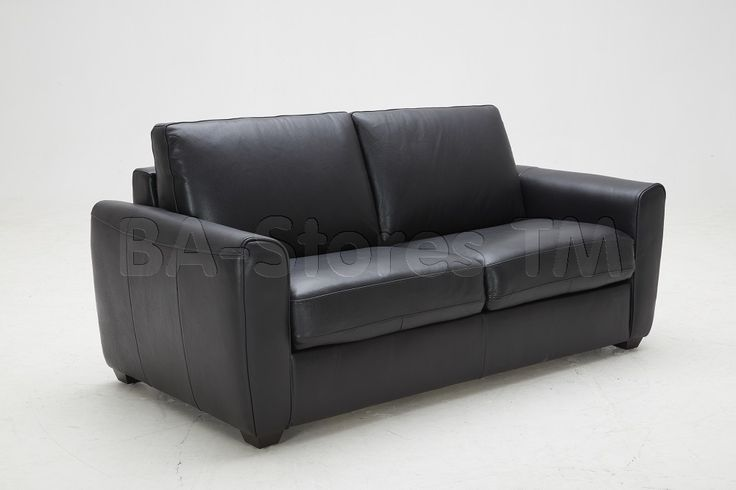 Ventura Sofa Bed In Black By Jm Sofa Beds By Jm Furniture - Fina-leather-sofa-by-athomeusa