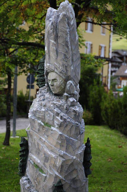 """like a goddess""  paolo figar  2014 cirmolo policromo painting wood sculpture scultura lignea"