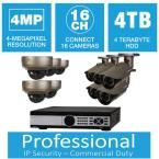 Q-SEE 16-Channel 4MP 4TB Network Video Recorder with (5) Bullet Cameras and (5) Dome Cameras