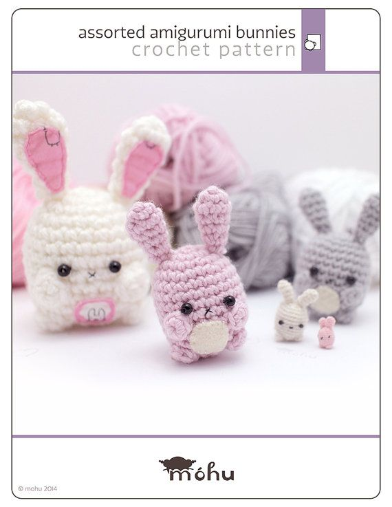 amigurumi bunny pattern - cute crochet rabbit pattern from mohu  #easter