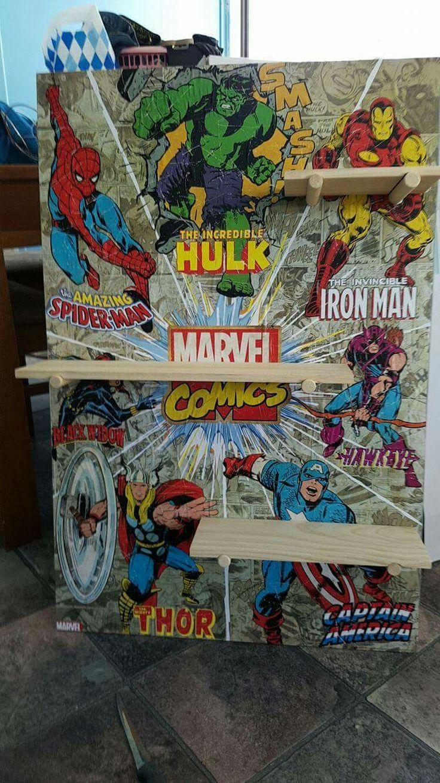 Kmart Hack (Peg Board and Super hero Poster)