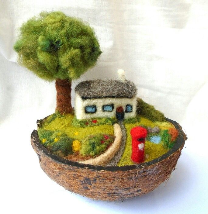 In a nutshell no.3 - needle felted SShaw