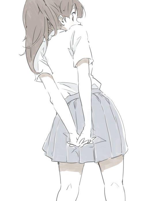 seems more like a manga drawing but still pretty anime girl
