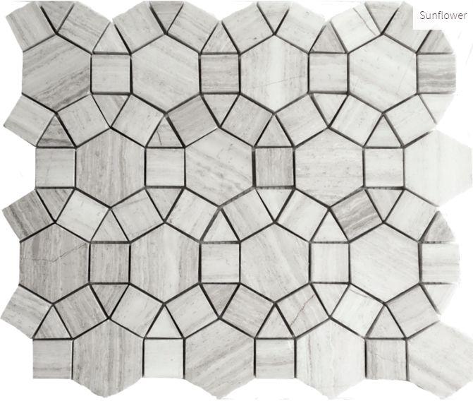 Escarpment Sunflower #mosaic #tile #faberstoneandtile