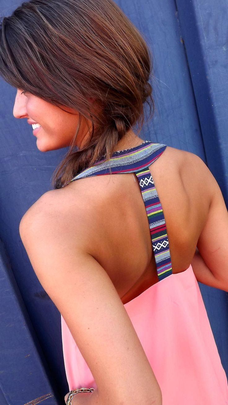 Razor back with Aztec pattern