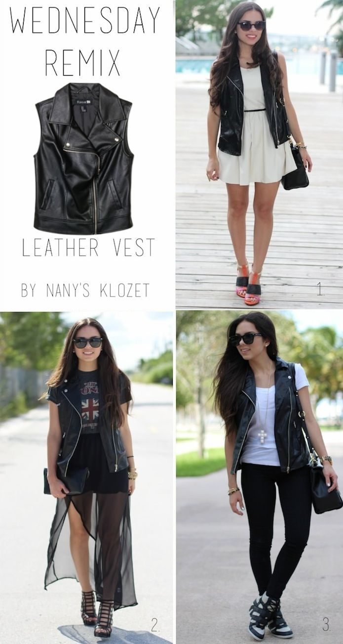 Nany's Klozet: REMIX: leather vest **updated**