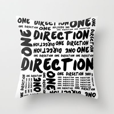 One Direction  Throw Pillow by Courtney Burns - $20.00