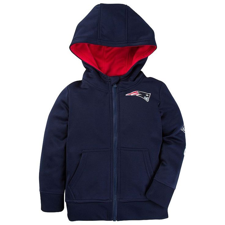Toddler New England Patriots Hoodie, Boy's, Size: 12 Months, Blue (Navy)