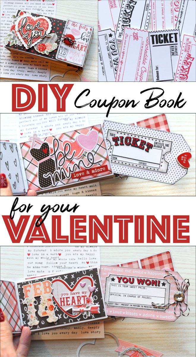 How To Make A Valentine S Day Coupon Book Coupon Book Diy Diy Crafts For Boyfriend Valentines Coupon Book