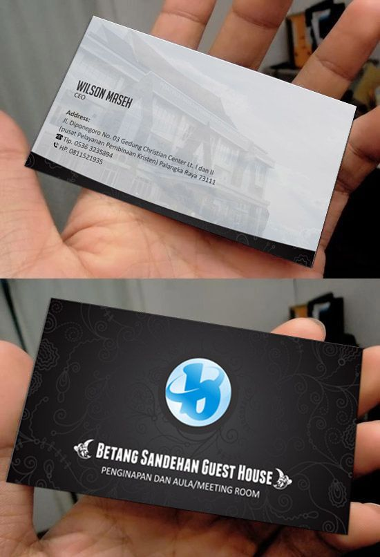 Card for bentang guest house