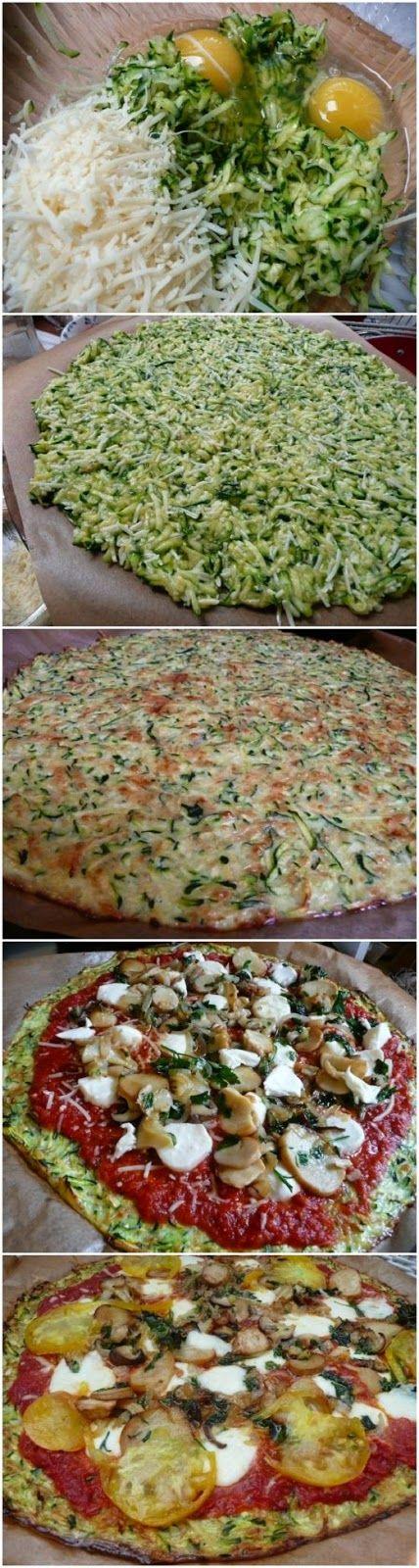 Pizza de abobrinhas, olha que magico e fica muito gostosa!