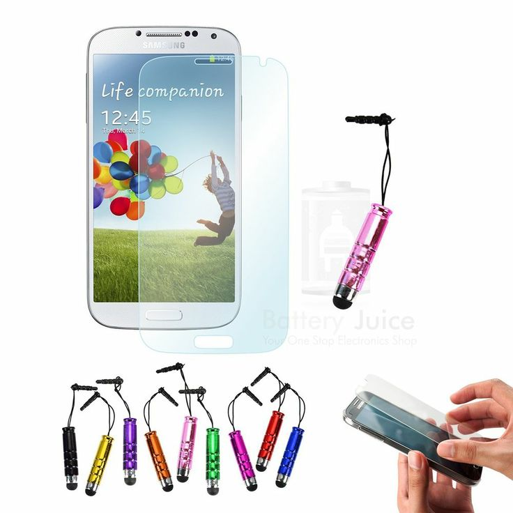 2x 5x 10x 20x Clear HD Screen Protector & Mini Stylus For Samsung Galaxy S4 IV