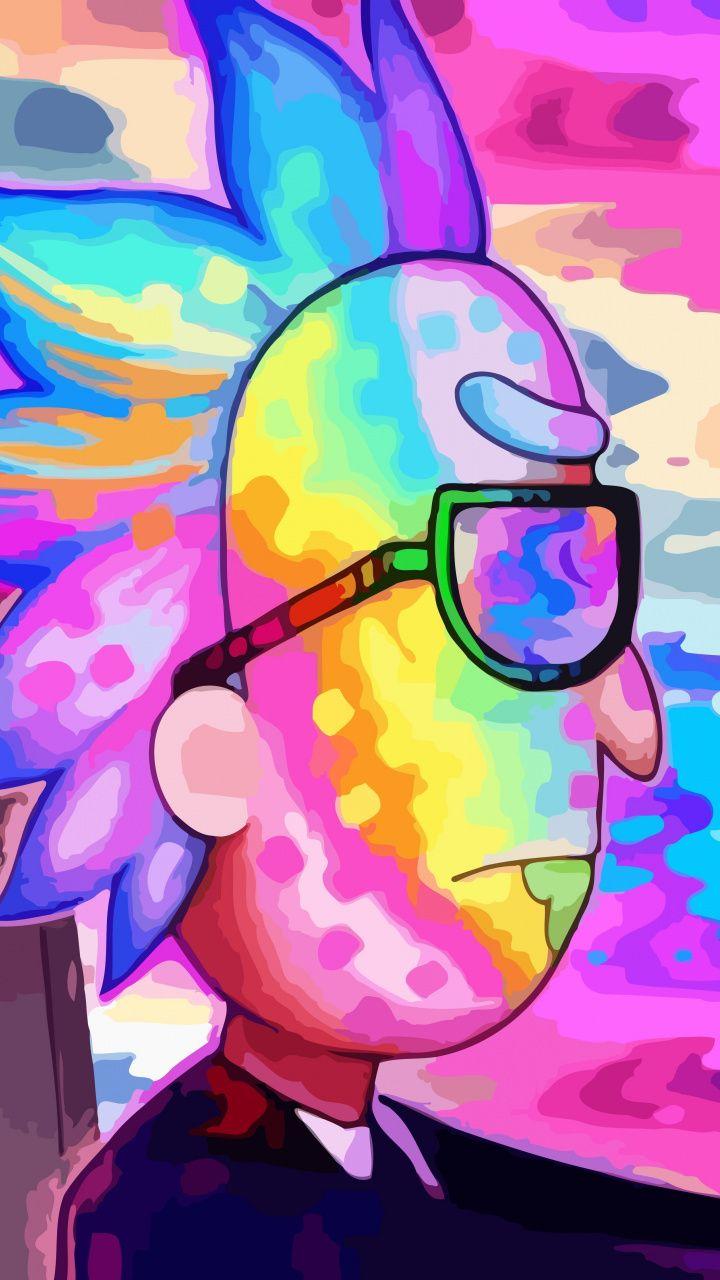 Rick und Morty, Rick, fahren, bunt, 720×1280 Wallpaper