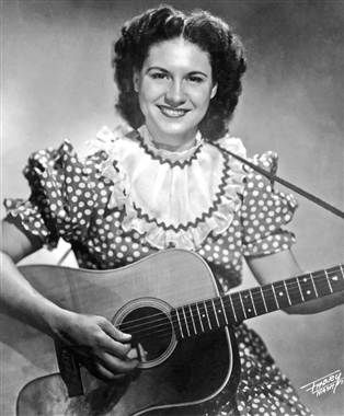 "Kitty Wells (1919 - 2012) Pioneering female country music singer, known for her hit ""Honky Tonk Angels"""
