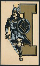 University of Idaho _ORIGINAL 40's College Decal VTG Joe Vandal Silver and Gold