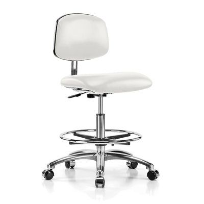 Perch Chairs & Stools Low-Back Drafting Chair Upholstery Color: Adobe White Vinyl