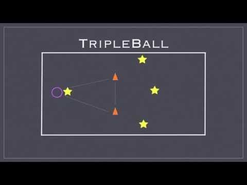 Physical Education Games - Triple Ball - YouTube