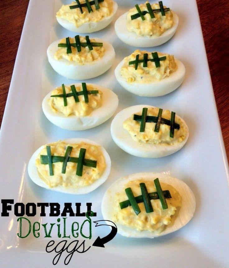 Football Deviled Eggs!