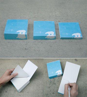 Блок для записей Help Me - Polar Bear