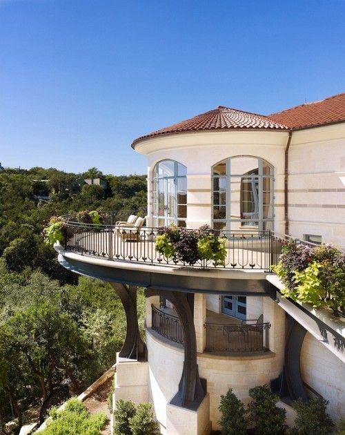 ❤ stunning mediterranean style: layered balconies & wrought iron ❤